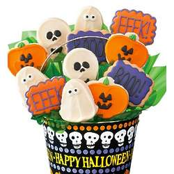 Halloween Buttercream Cookie Flower Pot