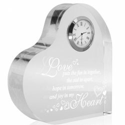Love Hope Joy Heart-Shaped Timepiece