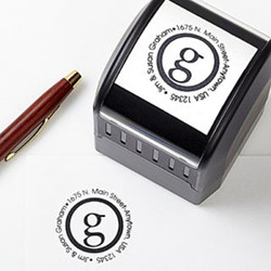 Small Initial Self-Inking Address Stamper