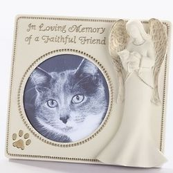In Loving Memory Angel with Cat Photo Frame