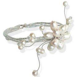Pearl Flower Wrap Bracelet