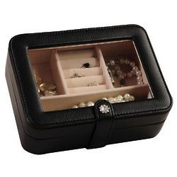 Travel Jewelry Case with Crystal Clasp
