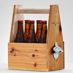 6-Pack Wooden Beer Holder