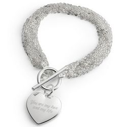 Multi-Chain Bracelet with Heart Charm