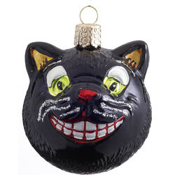 Personalized Grinning Cat Christmas Ornament
