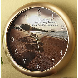 Footprints Poem Clock