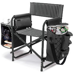 Deluxe Portable Chair with Cooler, Table, and Shelves