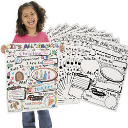 Color Your Own All About Me Posters