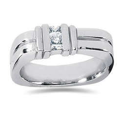 0.34 ctw Men's Diamond Ring in Platinum