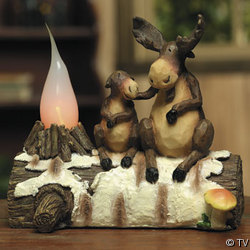 Moose Candle Lamp