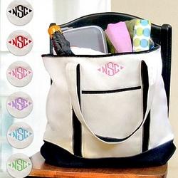 Personalized Bridesmaid Weekender Tote Bag