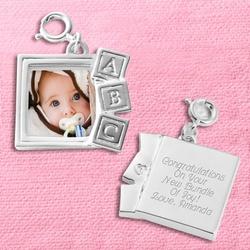 Baby Block Photo Charm