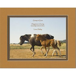 Grandparents Personalized Horse and Colt Print