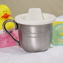 Personalized Pewter Baby Cup