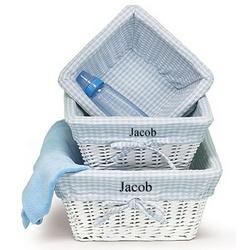 Blue Nursery Basket Set