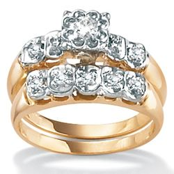 2-Pc Diamond 10k Wedding Set