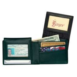 Leather Bifold Wallet Removable ID Holder
