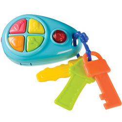 Toddler's Push and Play Electronic Key Chain