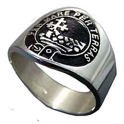 Personalized Scottish Family Crest Ring