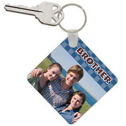 Brother Photo Keychain