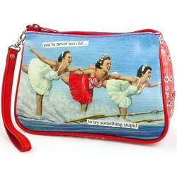 You're Never Too Old to Try Something Stupid Cosmetic Bag