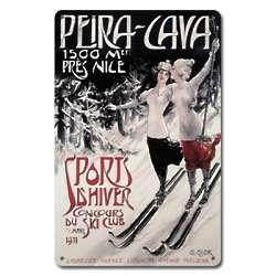 Peira Cava Metal Ski Sign