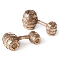 Whiskey Barrel Cufflinks