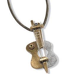 Guitar Sculpture Necklace