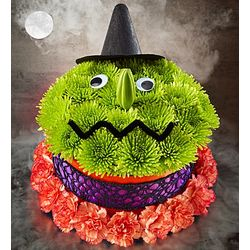 Bewitching Flower Cake Halloween Decoration