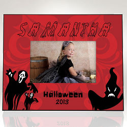 Personalized Ghostly Halloween Picture Frame