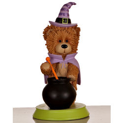 Personalized Witch Bear Figurine