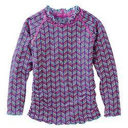 Girl's UPF Long-Sleeve Ruche Swim Shirt