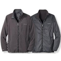 Microfleece, Windproof, and Water Repellent Reversible Jacket