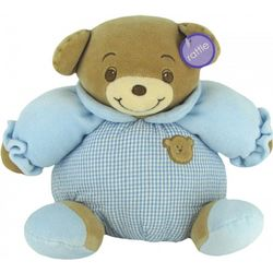 Baby Bow Blue Plush Teddy Bear with Rattle