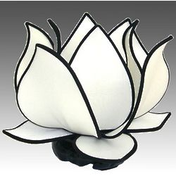 Blooming White Lotus Silk Table Lamp