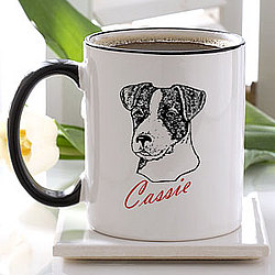 Personalized Dog Breed Ceramic Coffee Mug