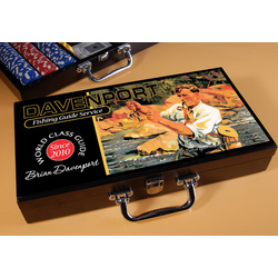 Personalized Poker Set with Fishing Guide Image