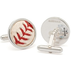St. Louis Cardinals MLB Authenticated Baseball Stitches Cufflinks