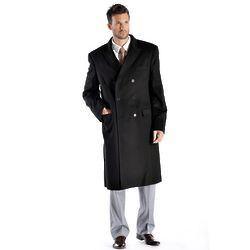 Pure Cashmere Double Breasted Coat for Men