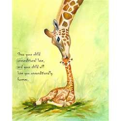 Wild Love Personalized Giraffe Print
