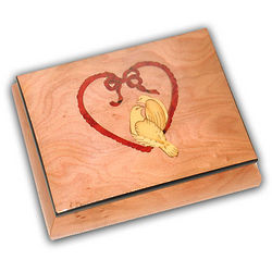 Dove Heart Music Box