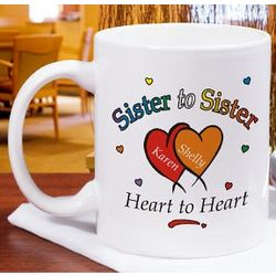 Heart to Heart Sisters Coffee Mug