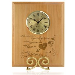 Unforgettable Wooden Plaque with Clock