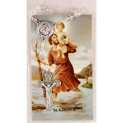 St. Christopher Auto Rosary and Prayer Card
