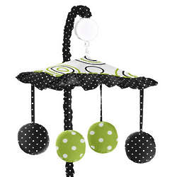 Spirodot Lime and Black Musical Mobile Mobile