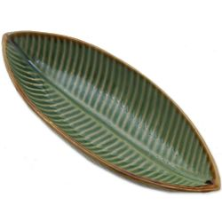 Banana Leaf Ceramic Bowl