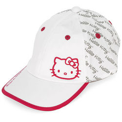 Hello Kitty Diva White and Magenta Tennis Hat