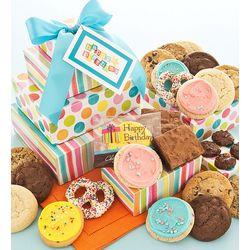 Gourmet Birthday Cookies Gift Tower