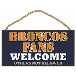 Denver Broncos Fan Wood Welcome Sign