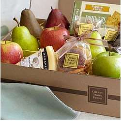 Simply Fresh Fruit, Cheese and Snacks Gift Basket